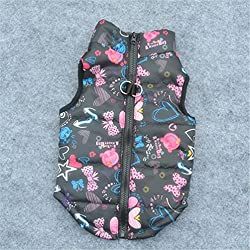 sunnymi Cute Little Pet Dog Cat Clothing ! Lovely Sleeveless Zipper Jacket Clothing Costume Apparel For Walking Jogging