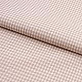 Hans-Textil-Shop 0,5 m Stoff Baumwolle 2x2 mm Vichy Karo - Beige
