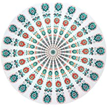 Manta de playa,Skysper redonda Mandala mantel manta de playa Picnic toalla de playa esterilla de yoga chal bohemio Mandala tapiz Colgante de Pared Decorativo 150*150cm