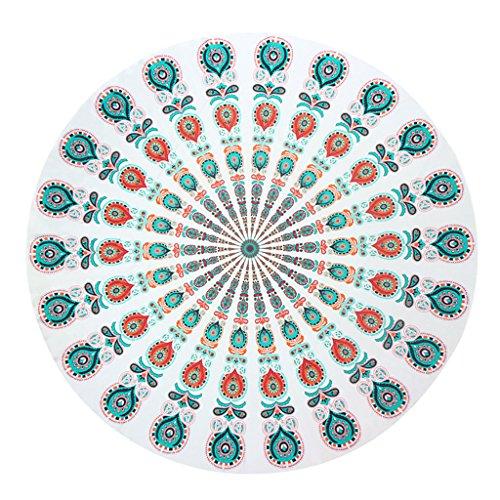 Manta de playa,Skysper redonda Mandala mantel manta de playa Picnic toalla de playa esterilla de yoga chal bohemio Mandala tapiz Colgante de Pared Decorativo 150*150cm width=