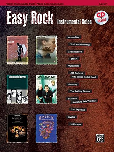 Easy Rock Instrumentals Violin Book/CD +CD (Instrumental Solos)