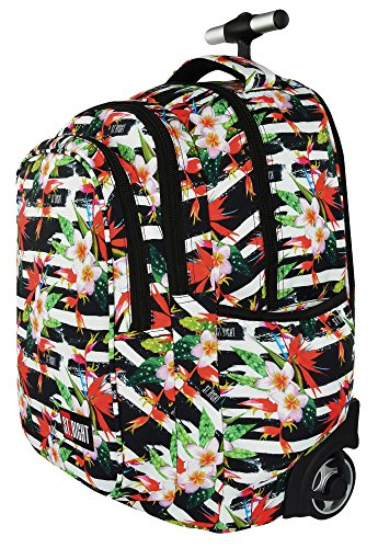5d4c35505c ... St.Right TROPICAL STRIPES Super Zaino Trolley Scuola per Ragazza  Bambina ...