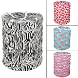 #2: Ketsaal Pop-Up Round Laundry Basket Bag/Foldable/Multipurpose/Carry Handle/Zippered Lid for home, cloth storage bag- Color and Print might vary According to Availibility.