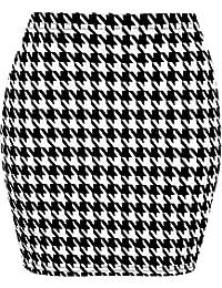 WearAll - Imprimé extensible elastiqué jersey court mini-jupe moulant -  Jupes - Femmes - 0bf74d744279
