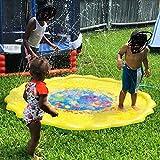 Cospargere e Splash gioco Water Mat - Autbye Materiale in PVC ecologico migliorato Pad gonfiabile sprinkler, giocattoli spray estivi perfetto per i bambini domestici e attività familiari all'aperto (170CM)
