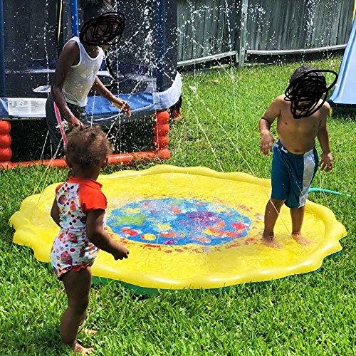(Autbye Splash Pad Umweltfreundliches PVC Material Sprinkler und Splash Play Matte Sommer Garten Wasserspielzeug für Baby Kinder (170CM))