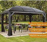 Aluminium Pavillon Überdachung Gazebo Moreno // 298x423 cm (BxH) // Sommer-Pavillon und Gartenlaube mit Hard-Top Dach von Sojag