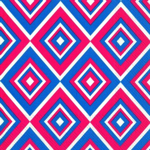 squadra-blau-rote-geometrische-diamanten-luxus-papierservietten-20-stuck