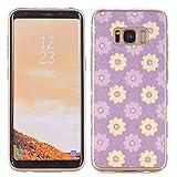 elecfan Ultra Sottile Morbido Silicone Caso Fiore Pattern TPU Custodia Protettiva per Samsung Galaxy