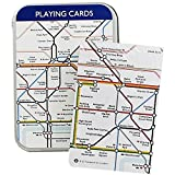 Robert Frederick Single Playing Card Tin London Underground Map/Trooping The Colour, Plastic, Assorted
