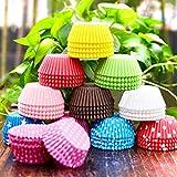 Gabkey Lot De 100 Pcs Caissettes Papier Muffins Moule Gâteau Pâtisserie Décor Cupcake Wrapper Aléatoire
