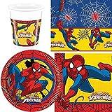 Nuovo Novità Spiderman Uomo Ragno Pacco Articoli Per La Tavola Per Festa per 8