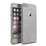 LAMINGO iPhone 8 Plus iPhone 7 Plus Glitzerfolie Skin Diamond Sticker Klebefolie in silber