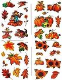 Unbekannt 3 Versch. Bögen: Fensterbilder  Herbst  - Blätter / Sonnenblume / Kürbis / V..