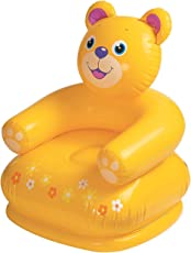 Zomaark Intex Inflatable Animal Air Chair For 3-8 Years Kids (Yellow)