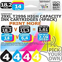 T2996 (Latest Version) 16 Pack 29XL T2996 Our Capacity Bk 18.2ml Colours 14ml