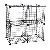Armario organizador modular de 4 cubos de 35x35cm metal