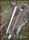 Battle-Merchant Bastardschwert, Anderthalbhänder mit Scheide Echtes Schwert aus Federstahl
