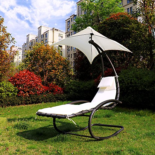 iKayaa Hammock Bed Lounger Chair - Beige