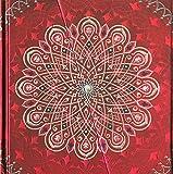 Boncahier 104014 Notizbuch 17.5 x 17.5 cm, 144 Seiten, blanco, Mandalas Motiv, blau/lila/silber