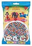 Hama 201-90 - Beutel mit 3000 gestreiften Perlen, bunt von HAMA