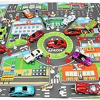 Chalkalon Coche Ciudad niños Juguetes Mapa de estacionamiento Versión en inglés Mapa de estacionamiento de la Ciudad Very Well