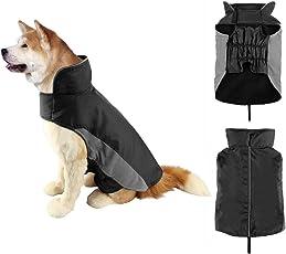 SymbolLife Hundemantel Winter Warm Hundejacke Regen Wasserdicht Jacke Winterjacke für Hunde Reflektierende Nylon Fleece Gefüttert Einfaches An- u. Ausziehen