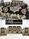 #10: Ab Home Decor Combo of Floral Design Diwan Set and Sofa Cover Sets, Coffee