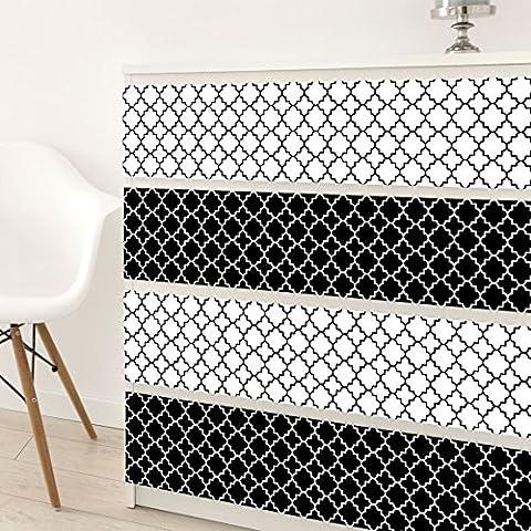 Muebles adhesiva (–Marroquí azulejos vierpas Metro, DIY Diseño Pantalla, pegatina Set, lámina, muebles, en, diseño, pvc, 100 x 100cm