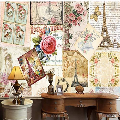 Weaeo foto wallpaper personalizzato stile europeo torre eiffel carta da parati camera da letto ristorante hotel negozio murale negozio di fiori murale-150x120cm