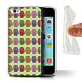 Stuff4 Coque Gel TPU de Coque pour Apple iPhone 5C / Tricératops Bébé Coloré Design/Dinosaures Dessin Animé Collection