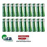 tka Köbele Akkutechnik AA Marken Batterien: Super-Alkaline-Batterien Mignon 1,5V Typ AA, 20 Stück (AA-Batterien Super Vorratspacks)
