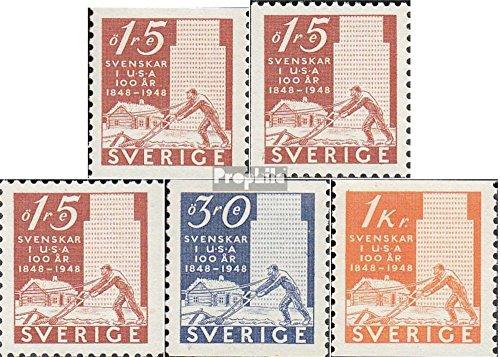 Schweden 340A,Dl,Dr-342A (kompl.Ausg.) 1948 Schwed. Siedler (Briefmarken für Sammler)