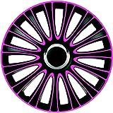 ZentimeX Z733003 Radkappen Radzierblenden universal 16 Zoll pink-black