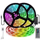 LED Streifen,Starlotus 5M 300LEDs SMD 5050 Warmweiß LED Bänder, LED Stripes IP65 Wasserdicht flexibles Lichterkette, DC12V Innenbeleuchtung für Deko Party Küche Weihnachten