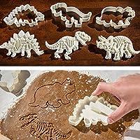 BONYTAIN 3pcs/set dinosaurio forma 3D galletas Sugarcraft postre hornear fondant galletas cortador molde