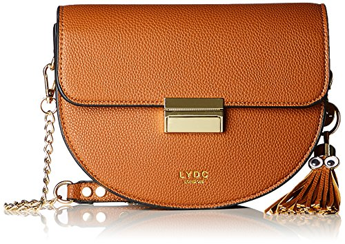 LYDC London Damen Bella Umhängetasche, Braun (Brown), 6x20x25.5 cm