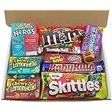 Heavenly Sweets - Mini Cesta Chocolate Americano Bala/Chocolate/Wonka/Nerds Navidad/Regalo Cumpleaños - En una Caja de Cartón Blanco