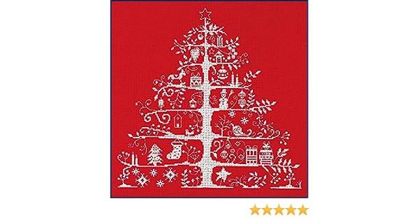 Christmas Tree Blue JPBK557N DMC Cross Stitch Kit