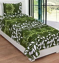 Cotton Bedsheet (KHF Premium Cotton Single Bedsheet, 1 Pillow Cover) Size- Bedsheet 90x60 inch., Pillow Cover 17x27 inch.