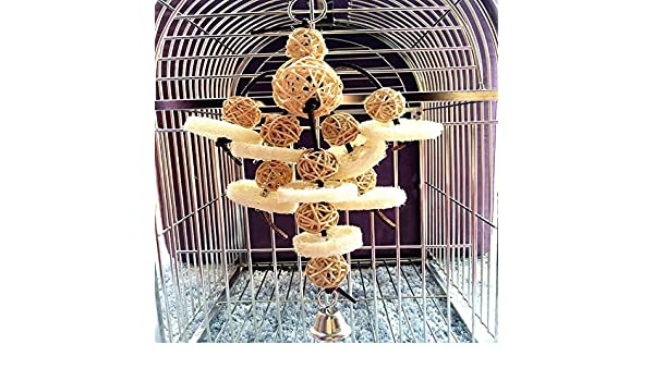 Bird Toys Foraging Star Bird Chew Toy Super Shredder Ball Will Keep Your Bird Busy for Weeks Foraging for Hidden Treasures Parrot Cage Toys Cages Shredder Cockatiel Conure 1Rattan Chew Ball
