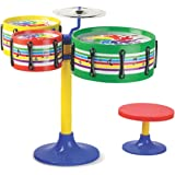 TOYZTREND Musical Instruments Original Jazz Drum Set for Kids, Multi Color (Assorted Colours & Designs)