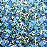 HXSS hermoso patrón de flores aislado Estática Película de ventana (sin adhesivo) 45cm x 2m