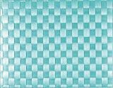 Saleen Tisch-Set, Flechtoptik, Maße: 30 x 40 cm, Eckig, Kunststoff, Aquamarin, 01010128101