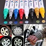 Collectsound Pennarello indelebile impermeabile - 12 colori per pneumatici auto, gomma, metallo, atossico, touch up