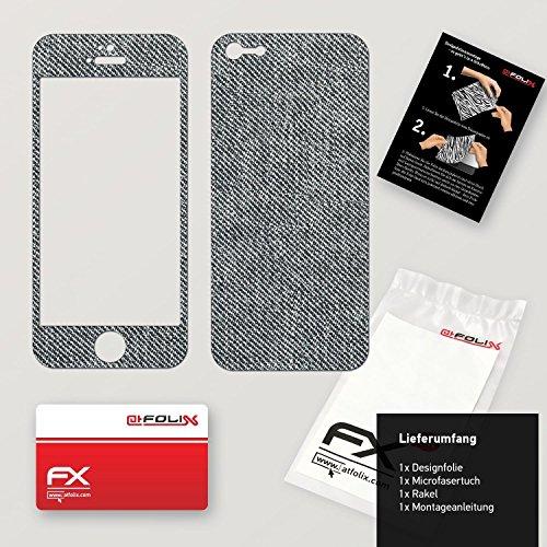 """Skin Apple iPhone 5 """"FX-Camouflage-Black"""" Sticker Autocollant FX-Denim-Grey"""