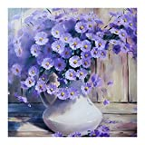 #3: DIY 5D Diamond Painting -BESTVECH Purple Daisy Embroidery DIY Cross Stitch Home Wall Decorate
