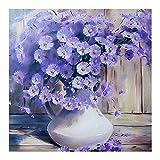 #5: DIY 5D Diamond Painting -BESTVECH Purple Daisy Embroidery DIY Cross Stitch Home Wall Decorate
