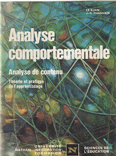 Analyse comportementale : Analyse de contenu, théorie et pratique de l'apprentissage (Nathan université, information, formation)