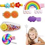 6 Piezas Pinzas Pelo Bebe Niña Clip de Pelo Multicolor Pelo Linda Horquillas Diseño de Dibujos Animados Y Fruta Accesorios Ca